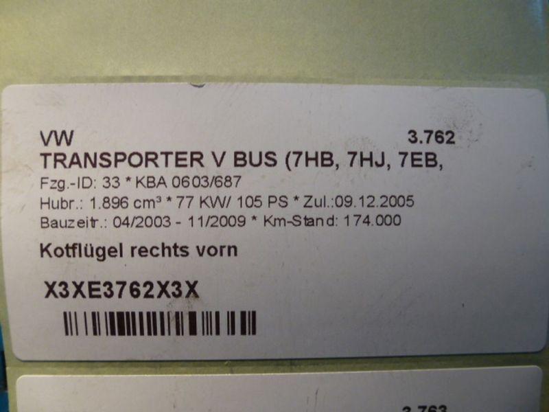Stoßdämpfer links hinten VW TRANSPORTER V BUS (7HB, 7HJ, 7EB, 7EJ, 7